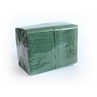 Бумажные полотенца однослойные зеленые 200шт Estetic