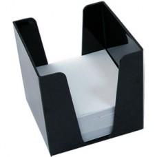 Бокс для бумаги 9х9х9см черный Арника