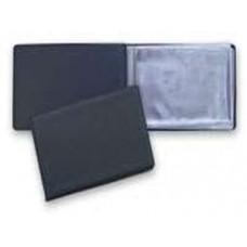 Визитница карманная на 24 визитки черная PantaPlast