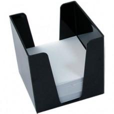 Бокс для бумаги 9х9х9см дымчатый KiP