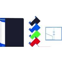 Папка-регистратор А4 с 2-мя кольцами картонная черная BuroMax