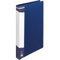 Папка-регистратор А4 с 2-мя кольцами картонная синяя BuroMax