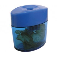Точилка для карандашей пластиковая с контейнером BuroMax