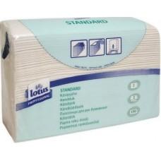 Бумажные полотенца двухслойные белые 200шт Lotus