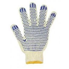 Перчатки хлопчатобумажные с пупырышками (две нити) Украина Х