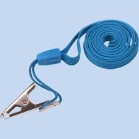 Шнур для бейджа с металлическим клипом 55х90мм синий Centrum