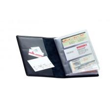 Визитница на 96 визиток Soft бордовая Brunnen