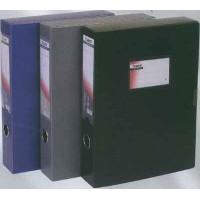 Папка-коробка архивная 6см пластиковая черная Axent