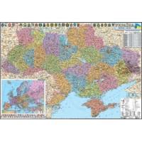 Карта автодорог Украины (1:1000 000 108х158см) Картография