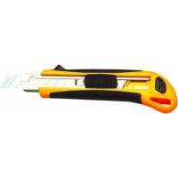 Нож канцелярский прорезиненный 18мм BuroMax