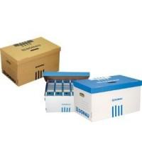 Короб для архивных боксов картонный синий Donau