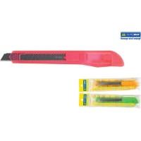 Нож канцелярский пластиковый 9мм в асс. BuroMax