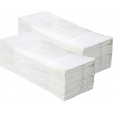 Бумажные полотенца Колибри двухслойные белые 160шт Украина Х