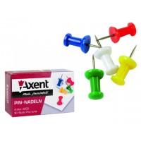 Кнопки-гвоздики 30шт цветные Axent