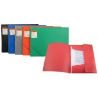 Папка комбинированная с резинками А4 обложка 400мкм красная Delta by Axent