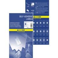 Наклейки для печати А4 (84шт на листе 100л/пач) BuroMax