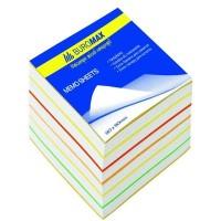 Блок цветной бумаги 'Радуга' 90х90мм 500 листов BuroMax