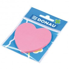 Бумага клейкая для заметок Donau 'Сердце' 50л Donau