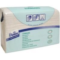 Бумажные полотенца двухслойные белые 250шт Lotus