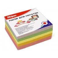 Блок цветной бумаги в боксе 90х90мм 500 листов Skiper