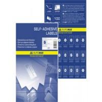 Наклейки для печати А4 (24шт на листе 100л/пач) BuroMax