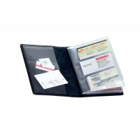 Визитница кожаная на 96 визиток Soft бордовая Brunnen