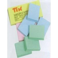Бумага клейкая для заметок 51х38мм разноцветная TIX