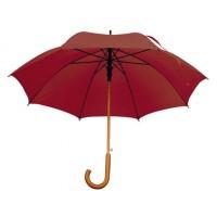 Зонт с деревянной ручкой бордовый Macma