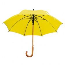Зонт с деревянной ручкой желтый Macma