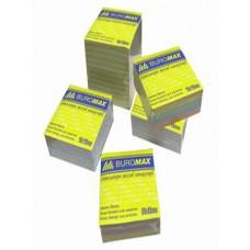 Блок цветной бумаги не склеенный 90х90мм 500 листов BuroMax