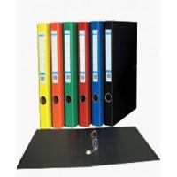 Папка-регистратор А4 с 2-мя кольцами картонная желтая BuroMax