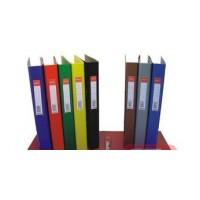Папка-регистратор А4 с 2-мя кольцами картонная красная BuroMax