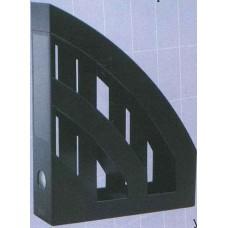 Лоток вертикальный пластмассовый черный KiP