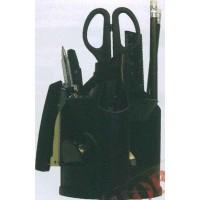 Набор настольный вращающийся черный + 13 предметов BuroMax