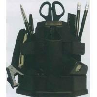 Набор настольный вращающийся черный + 16 предметов BuroMax