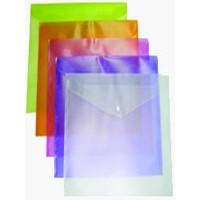 Папка пластиковая на кнопке А4 фиолетовая BuroMax