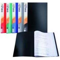 Папка с файлами (10шт.) А4 с непрозрачной обложкой синяя Alpha