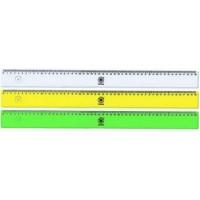 Линейка 30см пластиковая желтая Office Point